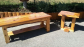 Custom made cedar coffee and end tables