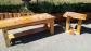 Custom made cedar coffee and end tables