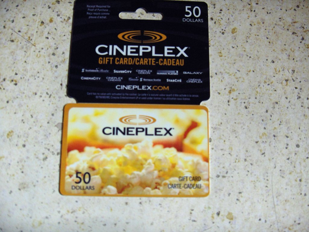 50 cineplex gift card selling for 35 in penticton bc. Black Bedroom Furniture Sets. Home Design Ideas