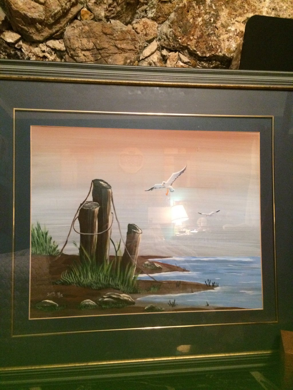 Framed Oil Painting Of Pei In Penticton Bc 【 Skaha Ca