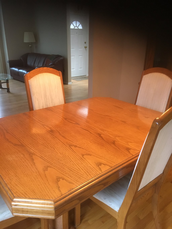 oak dining room suites   Light oak dining room suite in Penticton, BC 【 Skaha.ca